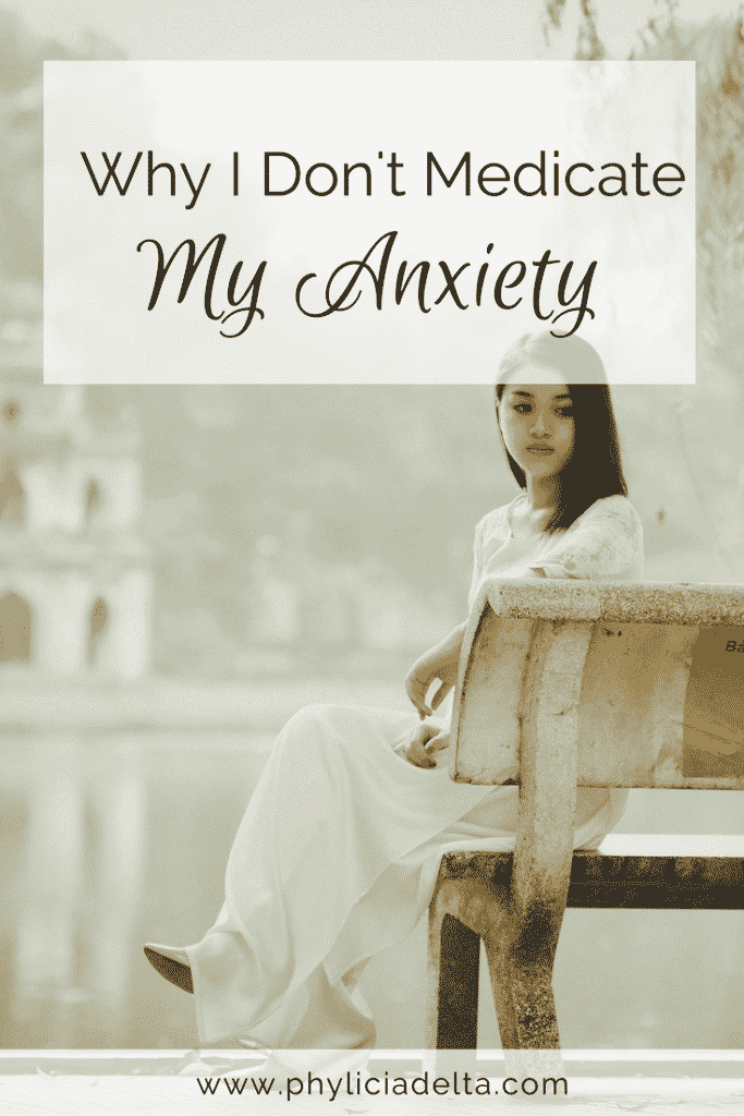 For me, my anxiety is a symptom of a problem - not the problem itself.