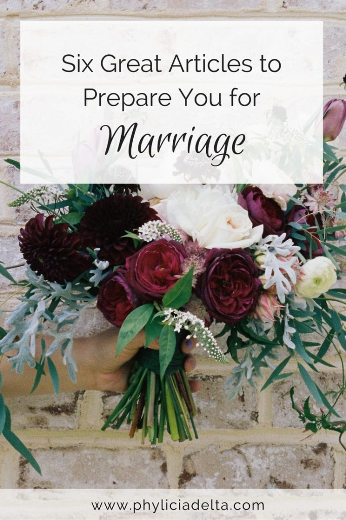 Whether engaged or dating, these six articles will prepare you for marriage.