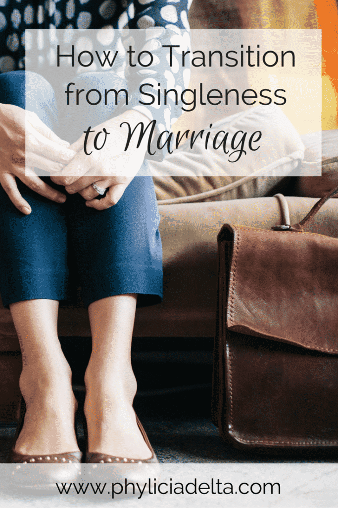 Today we're tackling how to move from singleness to marriage. We discuss five areas that will help you learn to share your life with your man.